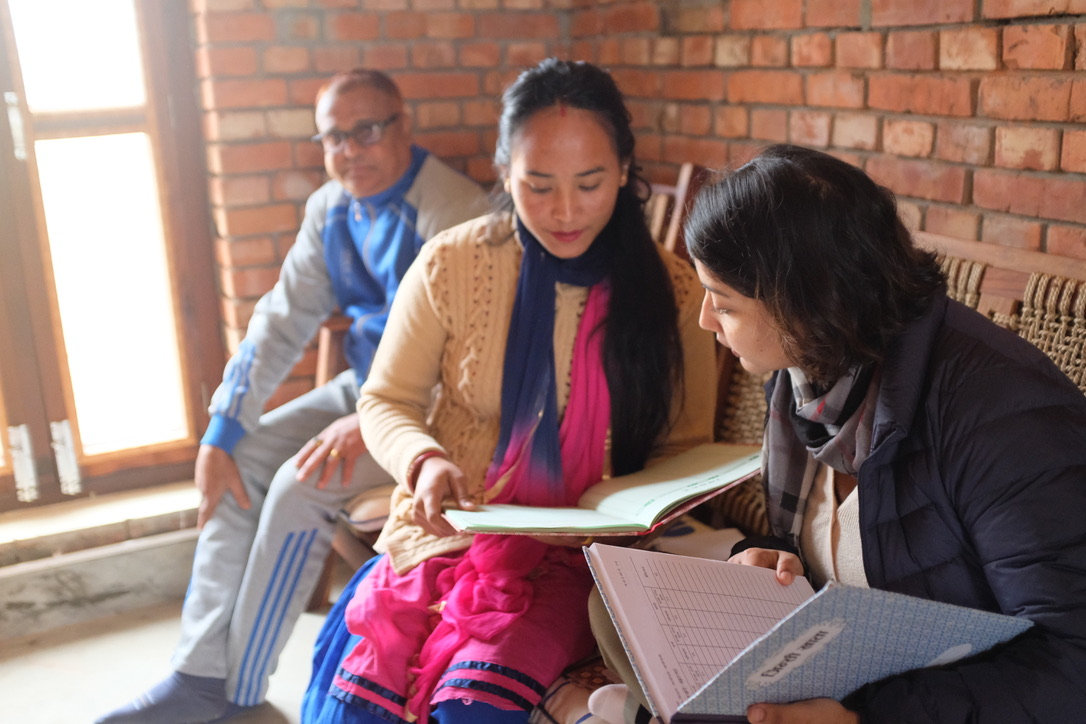 Taruna Mahato learning from Shikha Bhattarai (Sr. Finance Officer)